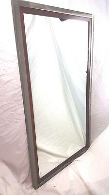 Really Cool Mirror! Aluminum and Rosewood? Large Wall Mirror Industrial Look