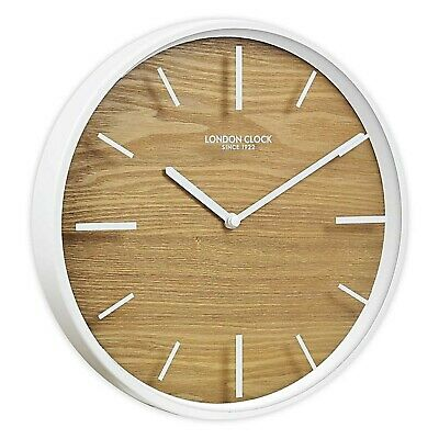 London Clock Company Skog Silent Sweep Wood Face Wall Clock 50cm **FREE DELIVERY
