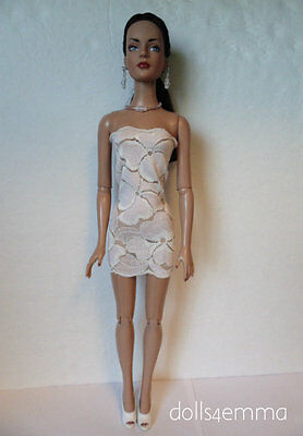 "TYLER Clothes Sydney 16"" handmade Pink Lace Dress & Jewelry Fashion NO DOLL d4e"