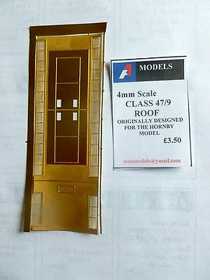 Class 47/9 ROOF PANEL 4mm - Etched Brass