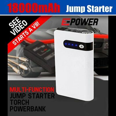 Portable Jump Starter Battery Charger 18000mAh Power Bank Vehicle 12V Minimax AU