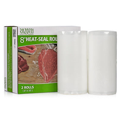 Razorri All Sizes Vacuum Sealer Bags Rolls Commercial FoodVacBags for Food Saver
