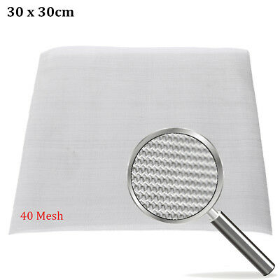 40 Mesh Stainless Steel Woven Wire 30cm Square Filtration Grill Sheet Filte Fine