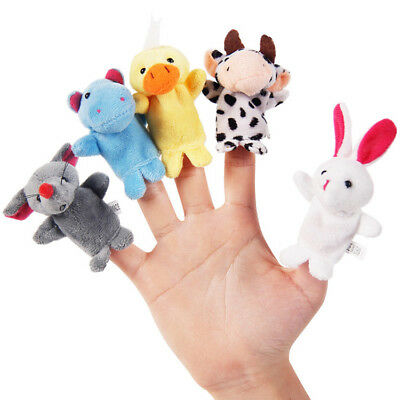 10 pcs/Bag Baby Plush Toy Finger Puppets Tell Story Props Animal Doll Kids Toys