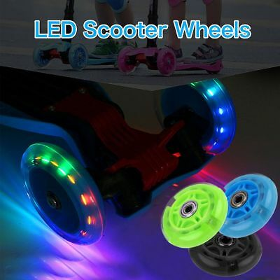 LED Light Up Inline Skate Rollerblade Wheels 80-120mm Bearings Included