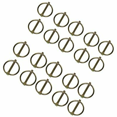 4.5mm Lynch Pins Clip Clamp (linchpin) Linkage Locking Pin 20pc Tractor Traile