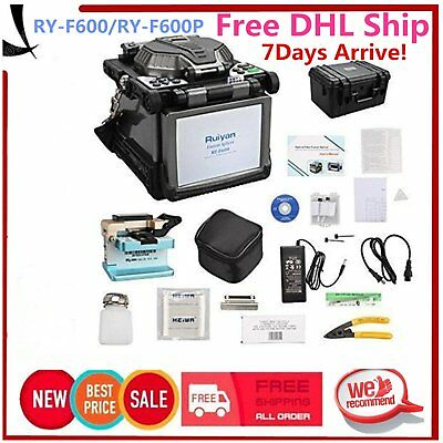 RY-F600P Fibre fusion splicer with Fiber Holders 5.1 inch TFT Color LCD PH