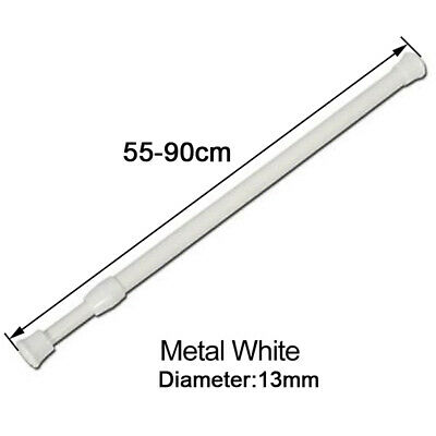 Extendable Metal Spring Loaded Voile Net Curtain Tension Rod Pole Rail 55-90cm