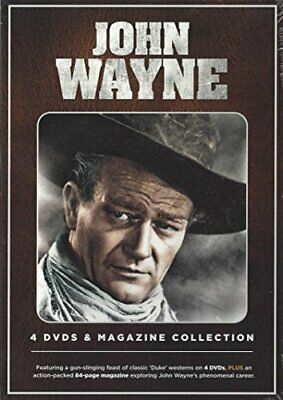 John Wayne - 4 DVD and Magazine Collection - DVD  0QVG The Cheap Fast Free Post