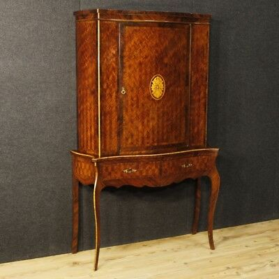 Furniture double body cupboard console inlaid wood antique style 1 door 900