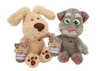 "Talking Friends 30 cm (12"") Talking Tom or Ben Plush Toy with Sounds 3+ 345-452"