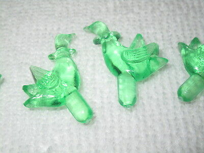 Geese   Ceramic Christmas Tree Plastic Lights Set Of 25 In Green