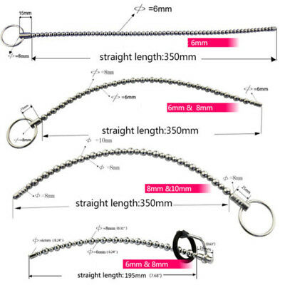 Stainless Steel Silicone Urethral Sound Stretching Beads Male Penis Plug Dilator