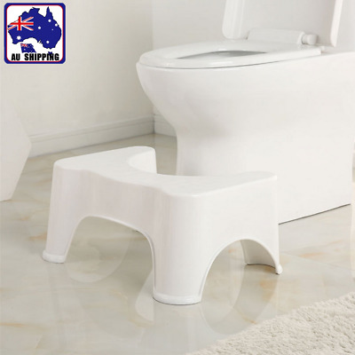 Non Slip Sit & Squat Squatty Potty ECO Toilet Stool Constipation White BTOI87801