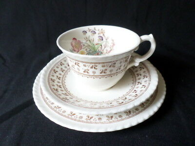 Crown Ducal. Knutsford. Trio: Cup, Saucer, and Small Plate. Made In England.