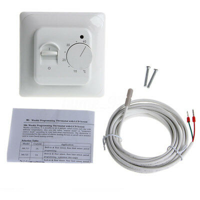 AU Floor Heating Thermostat Air Condition Temperature Controller Switch 16A 220V
