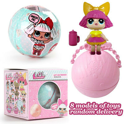 "3"" 1/4/8/12PCS LOL Surprise Doll Magic Ei Ball Toy Überraschung Puppe Xmas Gift"
