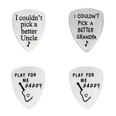 I Couldn't Pick A Better Grandpa Uncle Daddy Guitar Picks Plectrums Stainless