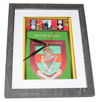 Udr Ulster Defence Regiment British Army 10 X 8 Box Frame Picture Clock
