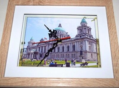 Belfast City Hall Ulster Northern Ireland 10 X 8 Box Frame Picture Clock