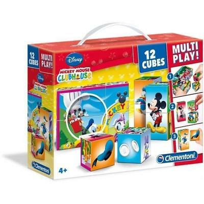 Cars Cubes 12 Pieces Multi Play Clementoni 41505.2