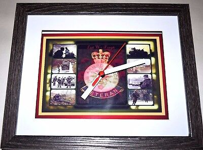 British army veterans badge op banner ulster 10 X 8 BOX FRAME PICTURE CLOCK