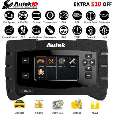 Autek IFIX919 Full System OBD2 Diagnostic Scanner ABS SRS SAS EPB BCM Scan Tools