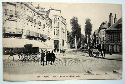 Cpa 03 Allier - Moulins - Avenue Nationale - 1922