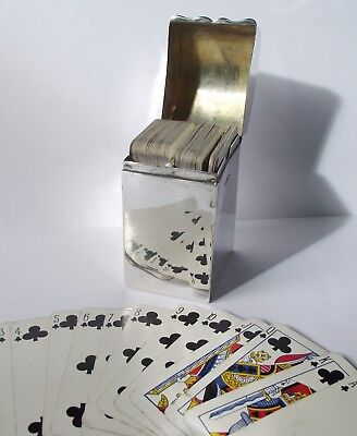 Sterling Silver Bridge Playing Card Case B'ham Edwardian Antique