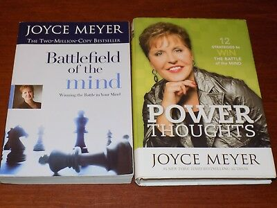 Battlefield of the Mind and Power Thoughts by Joyce Meyer - PB/HB