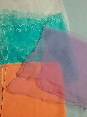 Lot of 4 Vintage Sheer Scarves