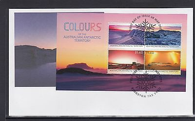 AUSTRALIAN ANTARCTIC - 2015 COLOURS Of the Antarctic  minisheet on FDC