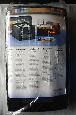Creative Memories Medium Power Sort Box - Black - BNIP - holds 1200 photos