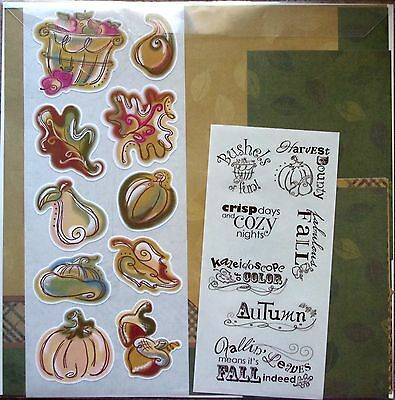 Creative Memories Earthy Autumn 12x12 Additions Kit / Paper