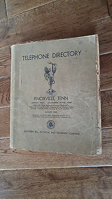 1949 Knoxville TN Telephone Directory Southern Bell Telephone Telegraph Vintage