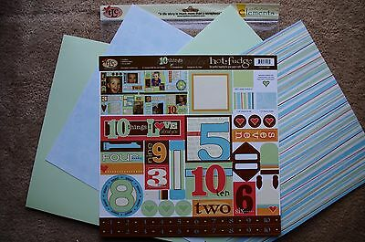 TLC 12x12 10 Things Scrapbook Kit i love about you Family Friends Son Daughter