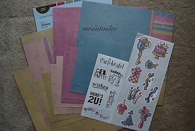 Creative Memories Earthy Birthday 12x12 Additions Kit / Paper