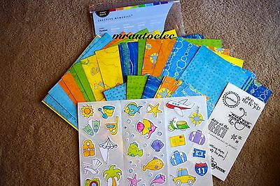 Creative Memories 8x8 Primary Vacation Kit - Holiday Road Trip Car Travel Break