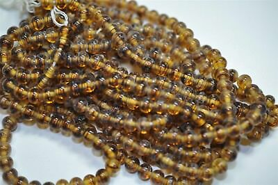 300 Cherry Brand Vintage 6mm Tortoise Color Beads Old Miriam Haskell Stock V3543