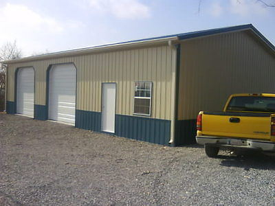 POLE BARN 40x50x14 W/ OVERHANGS FULL MATERIAL LIST  E-FILE AS PDF OR WORD FILE