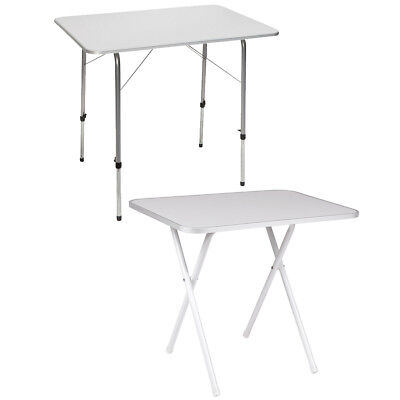 Camp Gear Table de camping pique-nique barbecue BBQ pliable Gris/Blanc Acier
