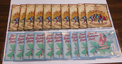 2 = New Old Stock Tommy Bahama Rum Refridgerator Magnets Parrots Mermaid