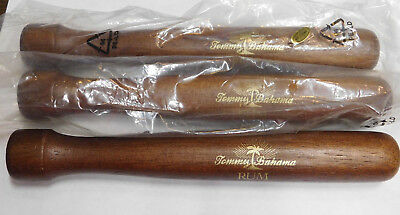 "New Old Stock Tommy Bahama Rum Solid Wood Bar Muddler 8"" Brown Finish"