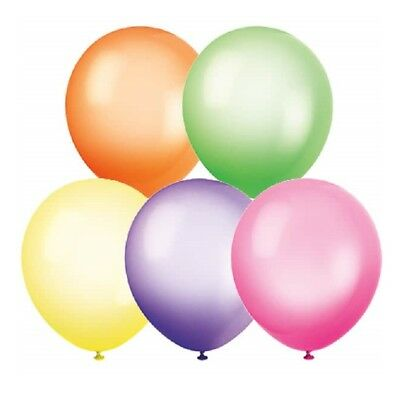 """10"""" High Quality NEON LATEX BALLOONS - Birthday Party Decorations - 5 Colours"""