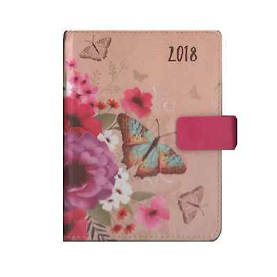 A6 Pink Butterfly Design Day Per Page Organiser Diary 2018