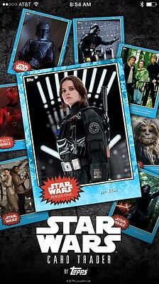 Topps Star Wars Card Trader - Choose ANY NINE digital cards from my account!
