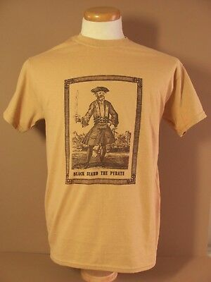 Historical Wares ( BLACK BEARD THE PYRATE)  Graphic T   size  MED.