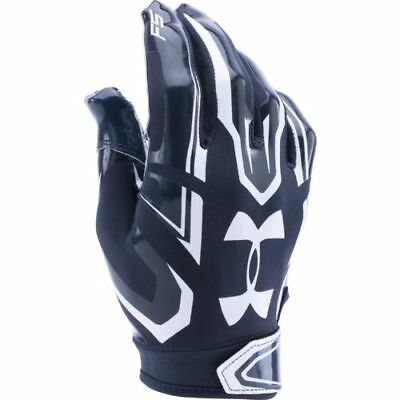 NEW Under Armour Adult UA F5 Football Gloves Navy/White Size M & XL Skill Player