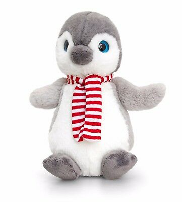 Keel Toys Christmas 20cm Penguin with Scarf Cuddly Soft Toy Plush Teddy SX1126