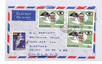 BQ230 1977 Ghana Devon Great Britain Airmail Cover {samwells}PTS